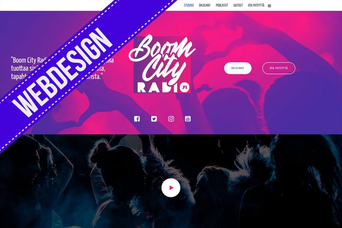 Boom City Radio, webdesign